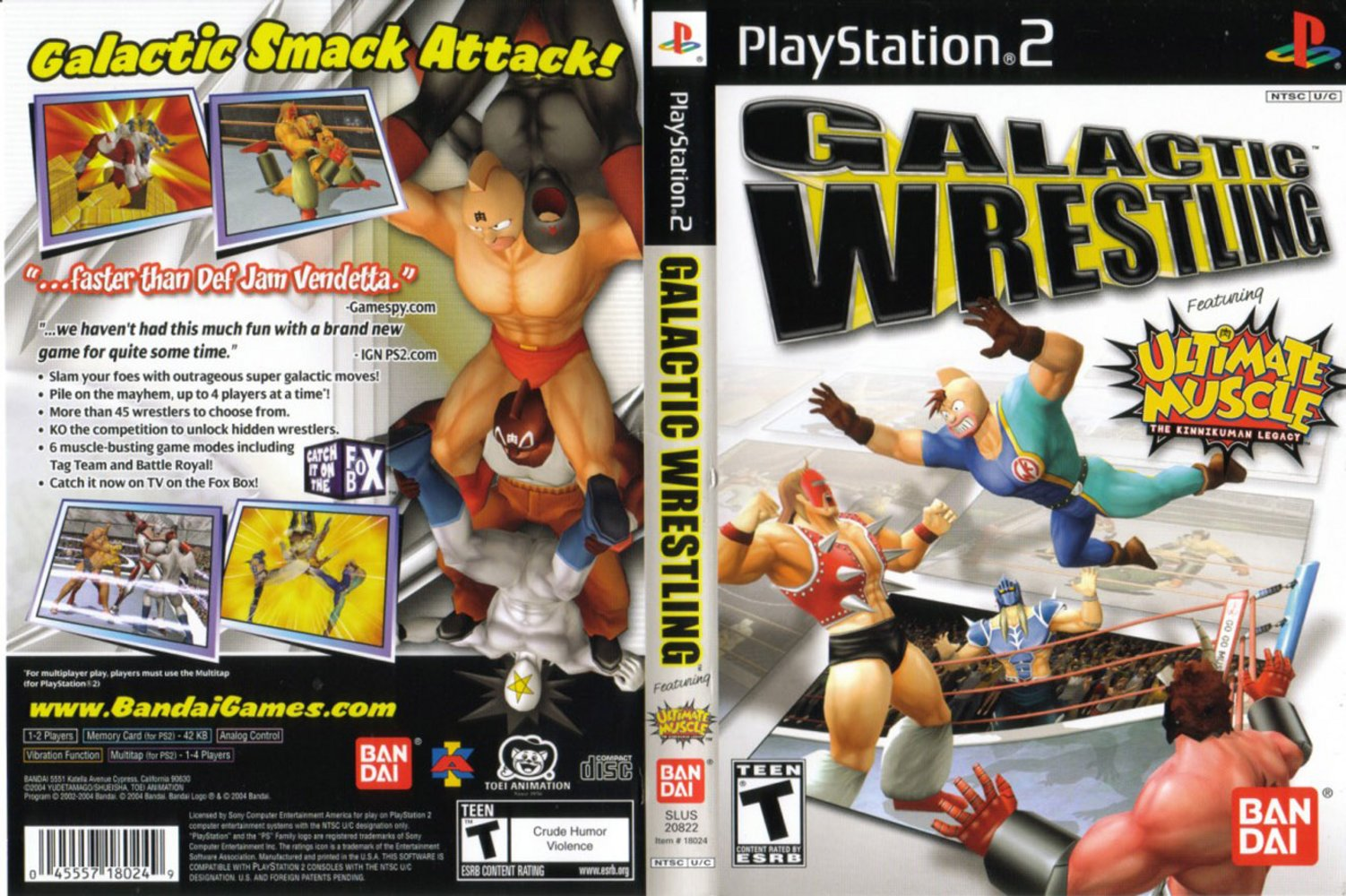 Torrent Super Compactado Galactic Wrestling PS2